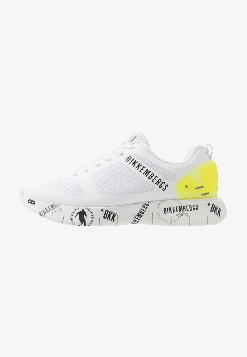 Bikkembergs - FLAVIO - Sneakersy niskie - white/yellow fluo