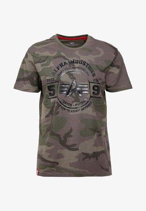Print T-shirt - dark olive