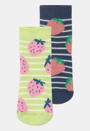 STRAWBERRY 2 PACK - Socks - dark blue/yellow