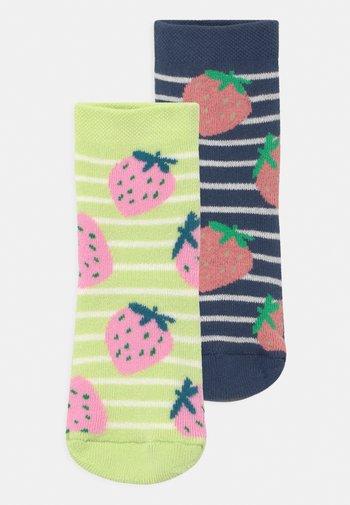 STRAWBERRY 2 PACK - Socks - dark blue/yellow