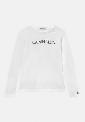 INSTITUTIONAL LOGO - Långärmad tröja - bright white