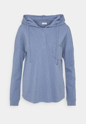 LONG SLEEVE HOODY BUTTON PLACKET - Hoodie - soft heaven