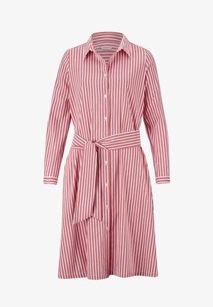 Shirt dress - koralle,weiß