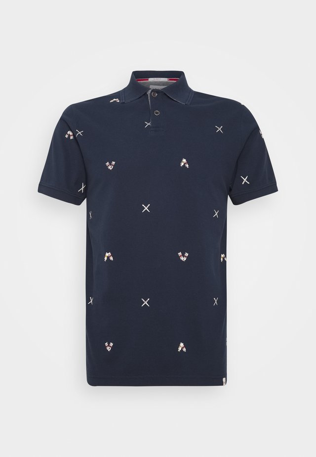 ART PRINT - Polo shirt - navy