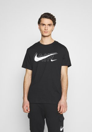TEE AIR - T-shirt med print - black/reflective silver