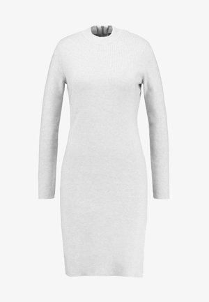 VMFANCY NANCY HIGHNECK DRESS - Shift dress - light grey melange