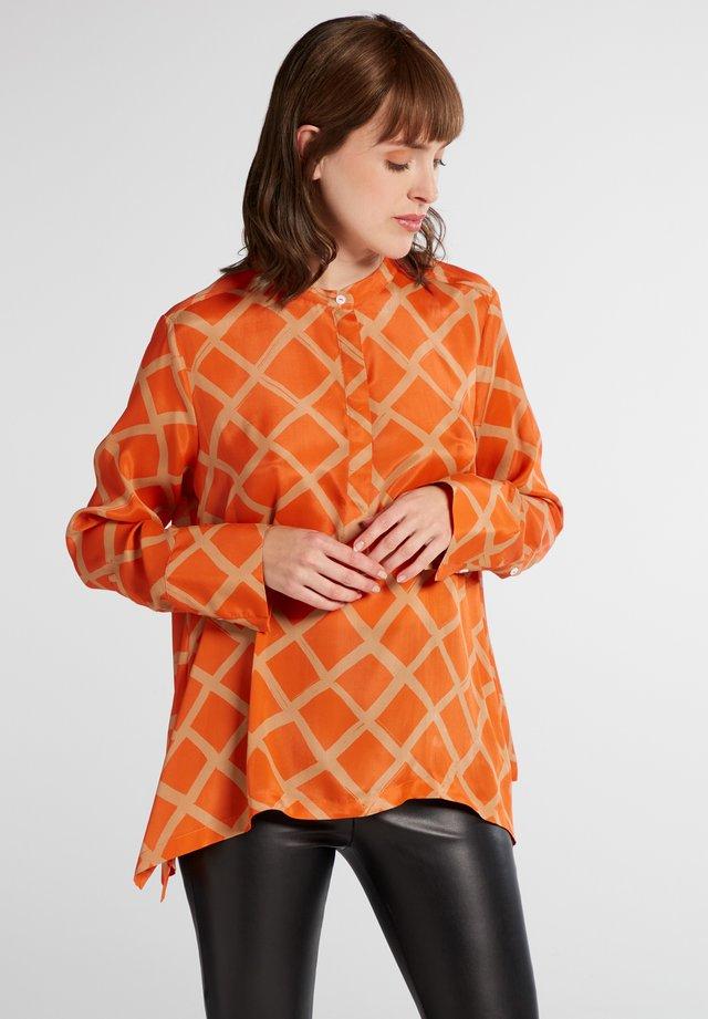 Blouse - orange/beige