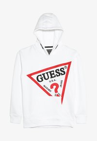 Guess - JUNIOR OVERSIZE HOODED - Felpa con cappuccio - true white - 3