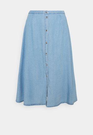 VMVIVIANA CALF SKIRT - Spódnica jeansowa - light blue denim