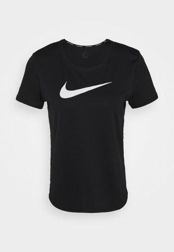 RUN - Print T-shirt - black/silver/white