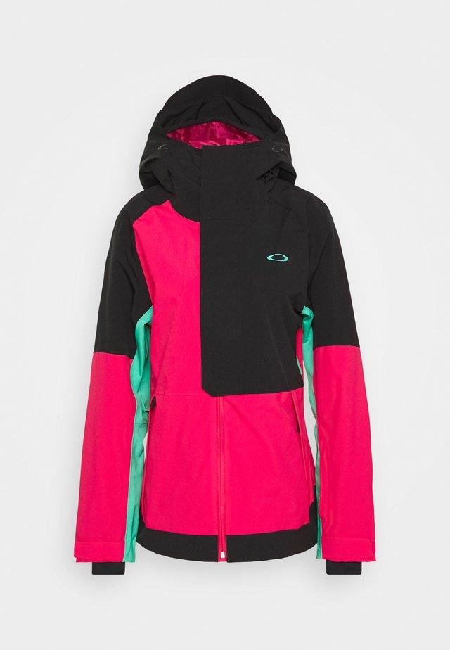 CAMELLIA SHELL JACKET - Snowboard jacket - black/rubine