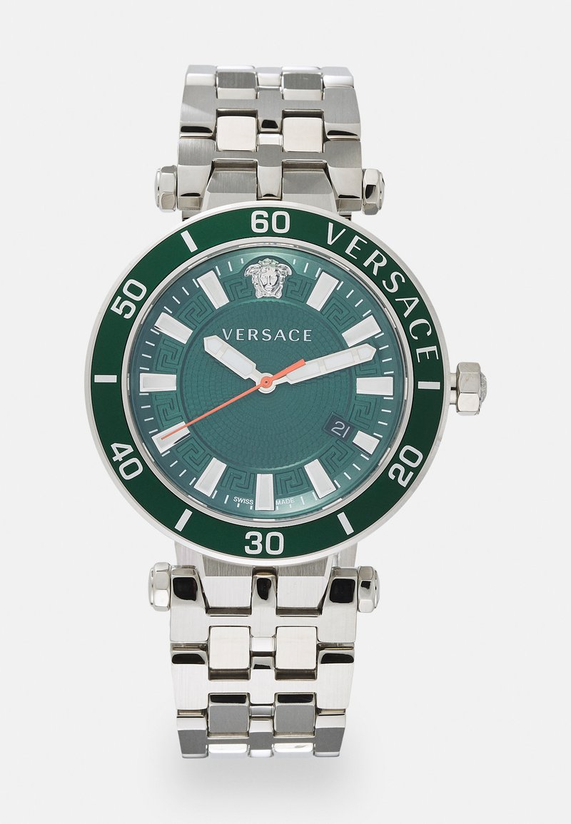 Versace Watches - GRECA SPORT - Hodinky - silver-coloured/green