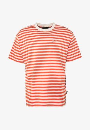 HORIZONAL STRIPE TEE - T-shirt print - orange