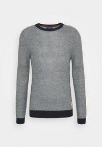 Jack & Jones - JORTONS CREW NECK - Stickad tröja - navy blazer - 0