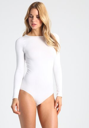 FALKE Fine Cotton Body  - Body - ivory
