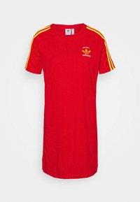 adidas Originals - STRIPES SPORTS INSPIRED REGULAR DRESS - Vestido ligero - red - 4