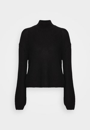 NMSIAN HIGH NECK  - Jersey de punto - black