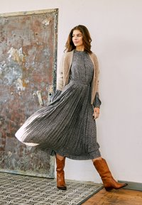 ONLY - ONLMETT MIDI DRESS - Maxi šaty - black - 0