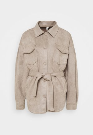 BELTED SHACKET - Summer jacket - beige