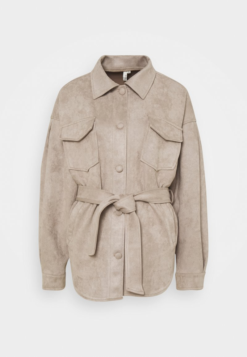 Nly by Nelly - BELTED SHACKET - Summer jacket - beige
