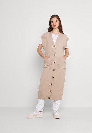 VIMELINDA LONG VEST - Jumper dress - natural melange