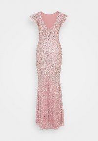 Maya Deluxe - ALL OVER EMBELLISHED FLUTTER SLEEVE MAXI DRESS - Vestido de fiesta - pink - 1