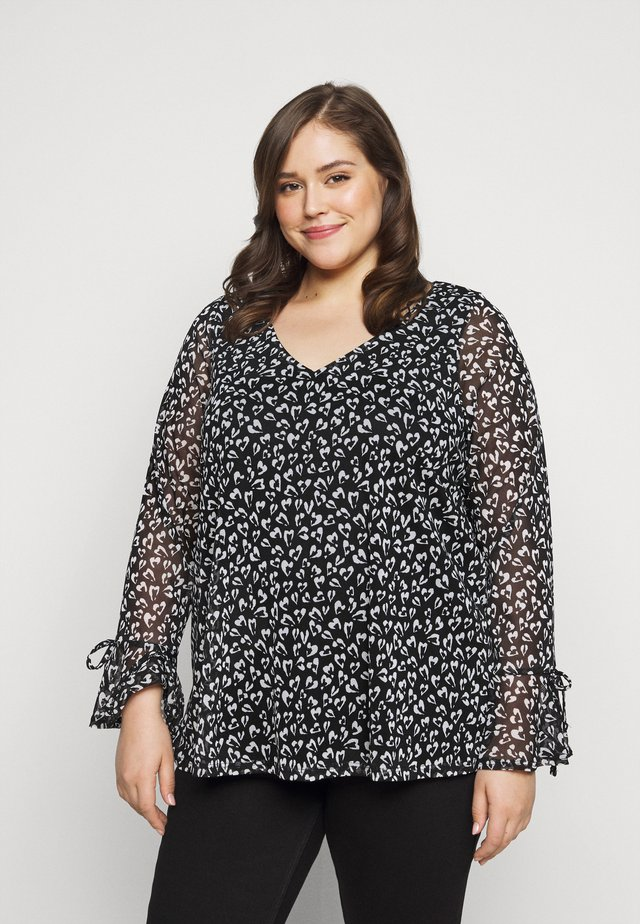 HEART PRINT TOP - Camicetta - ivory