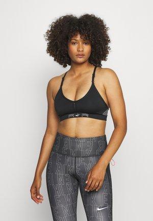 AIR INDY CUTOUTBRA - Light support sports bra - black/iron grey/white
