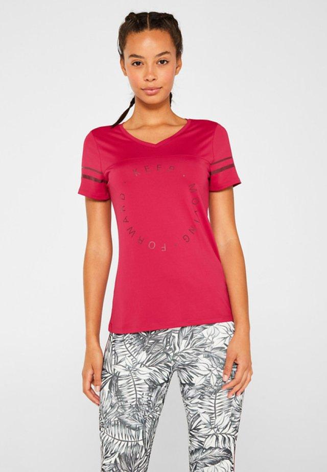 MIT STATEMENT-PRIN - Print T-shirt - cherry red