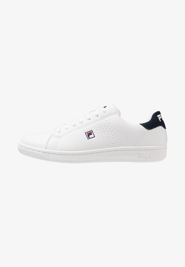 CROSSCOURT 2 F LOW - Obuwie treningowe - white/dress blue