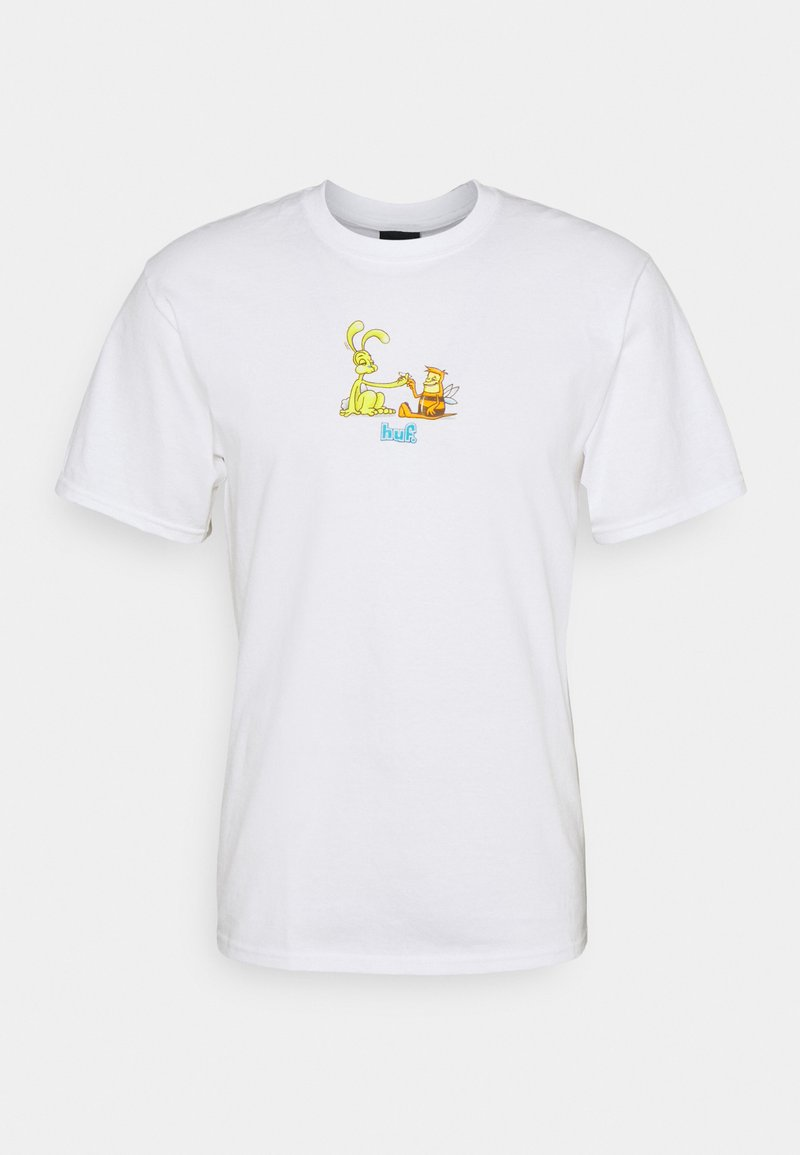 HUF - BEST FRIENDS TEE - Print T-shirt - white