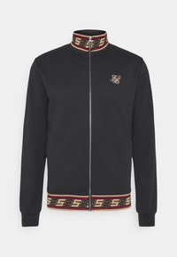 SIKSILK - DISTINCTION JACQUARD ZIP THROUGH TRACK - Cardigan - black - 3