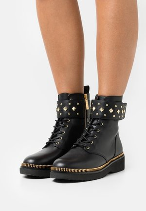 HASKELL BOOTIE - Lace-up ankle boots - black