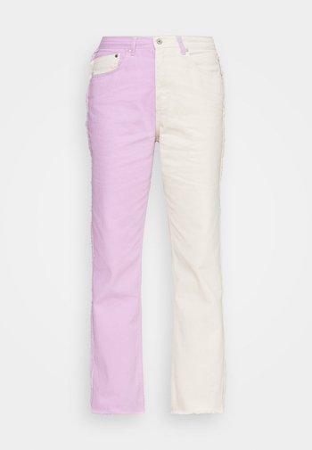 Straight leg -farkut - lilac & beige