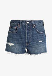 501 HIGH RISE - Denim shorts - silver lake