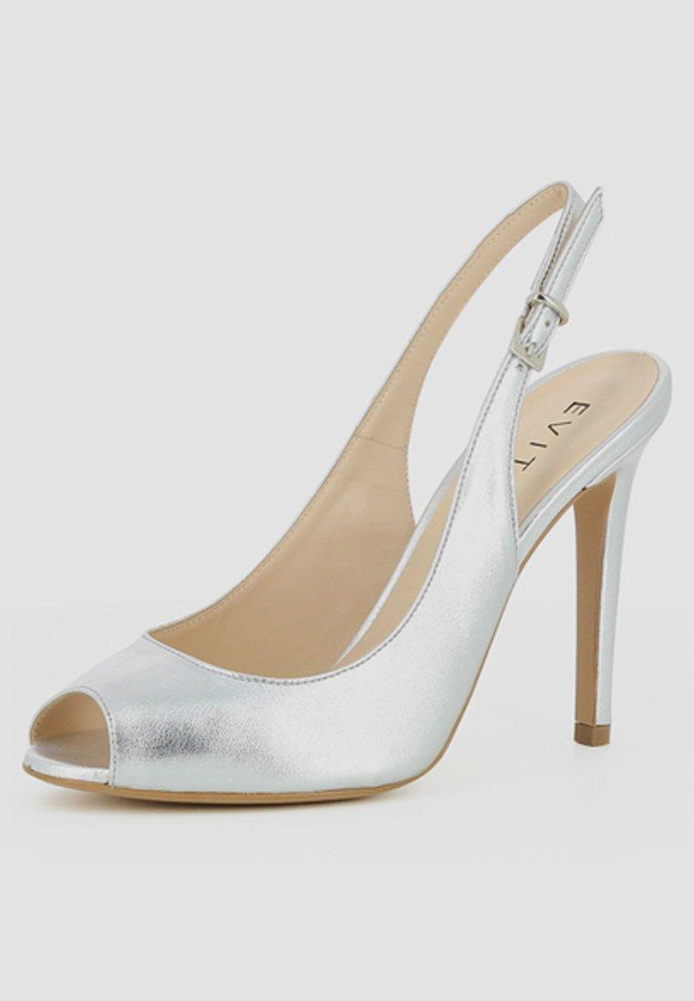 Evita ALESSANDRA - Talons hauts à bout ouvert - silver - Chaussures à talons femme Pas cher