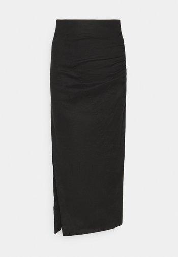 THE RUNNING BACK SKIRT - Pencil skirt - black