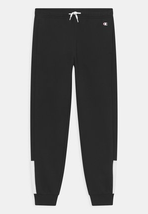 COLOR BLOCK CUFF PANTS - Pantaloni sportivi - black