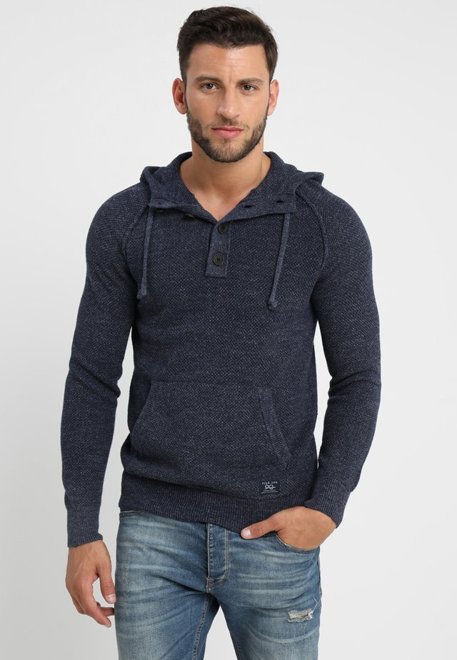 Sweter - mottled blue