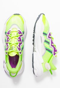 adidas Originals - OZWEEGO ADIPRENE+ RUNNING-STYLE SHOES - Tenisky - hi-res yellow/orchid tint/shock lime - 3