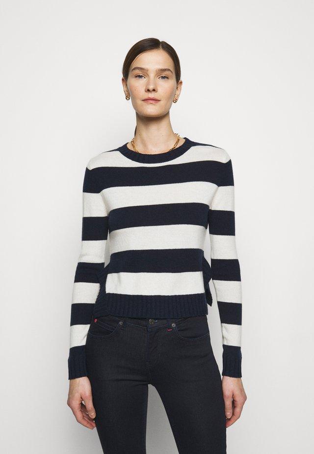 CRESCITA - Strikkegenser - navy blue pattern