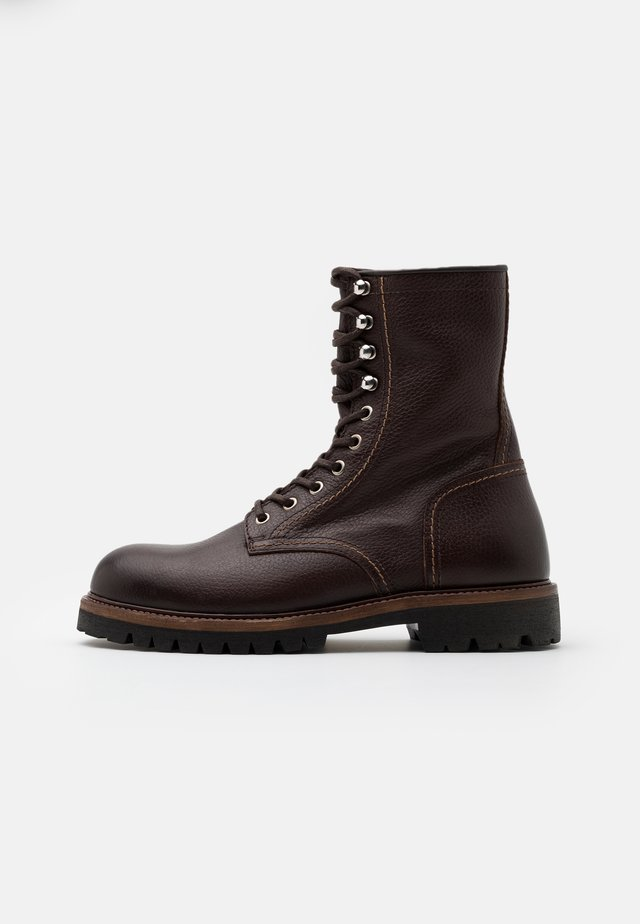 MARSHALL - Lace-up boots - tobacco