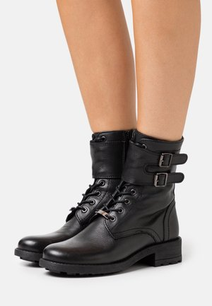LACIS - Lace-up ankle boots - noir