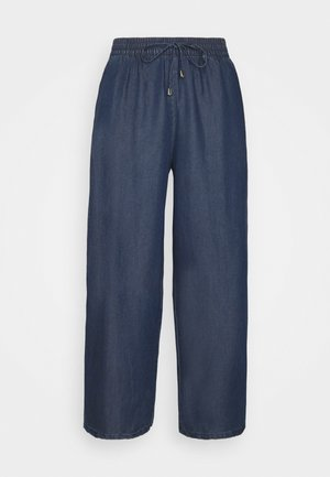 ONLPOPPY CULOTTE - Bukse - dark blue denim