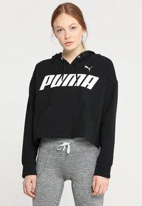 Puma - MODERN SPORTS HOODY - Felpa con cappuccio - black/white - 0