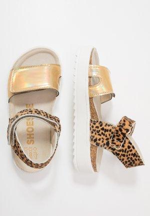 RAMPA - Sandaalit nilkkaremmillä - gold/fuchsia
