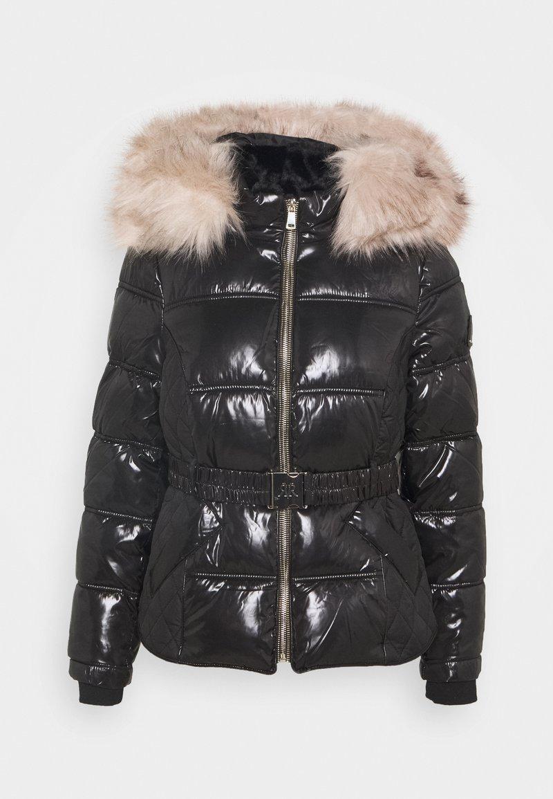 River Island Petite - HAMILTONQUILTED DOUBLE ZIP  - Winter jacket - black