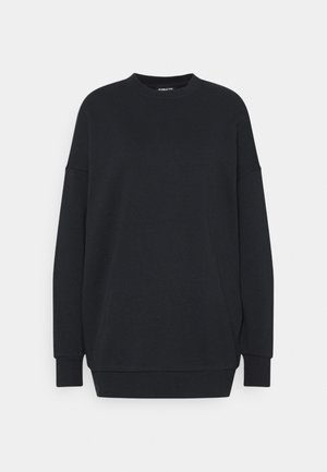 Long Oversize crew neck - Bluza - black
