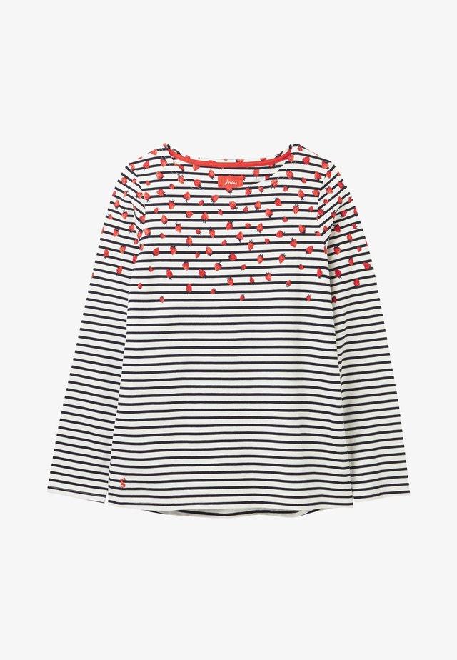 Camiseta de manga larga - erdbeer streifen