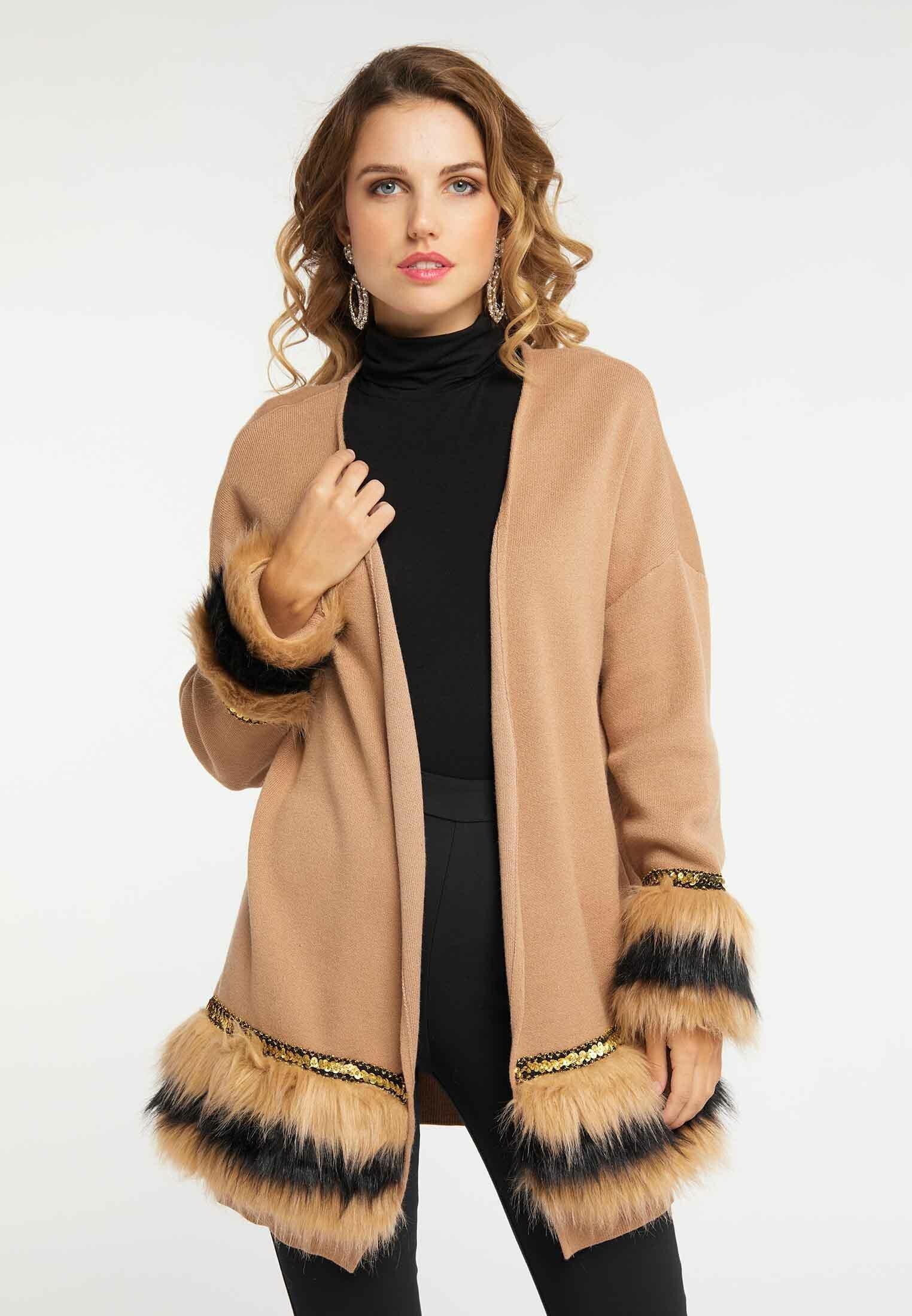 Cool Women's Clothing faina Cardigan brown SHpGU0H3y
